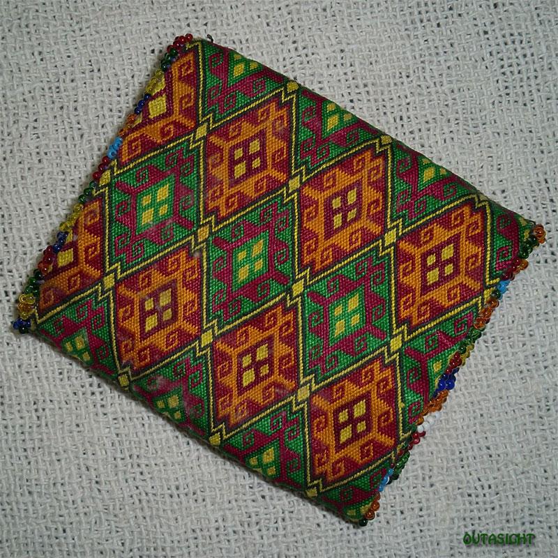 織物財布 三つ折りD オールド アフガニスタン