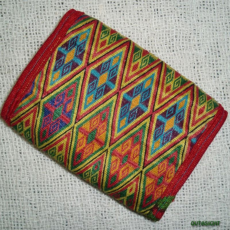 織物財布 三つ折りE オールド アフガニスタン