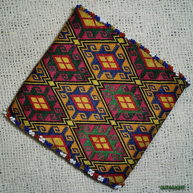 織物財布 三つ折りF オールド アフガニスタン