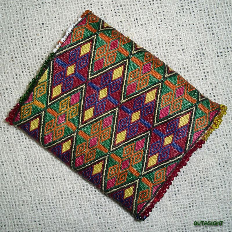織物財布 三つ折りG オールド アフガニスタン