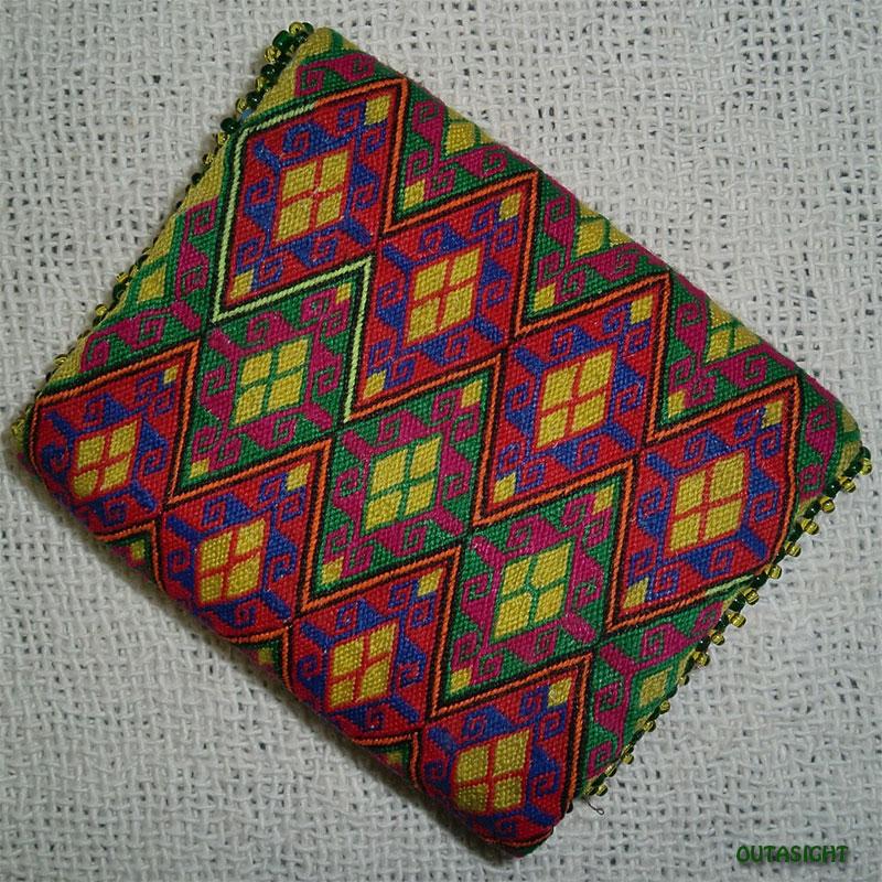織物財布 三つ折りH オールド アフガニスタン