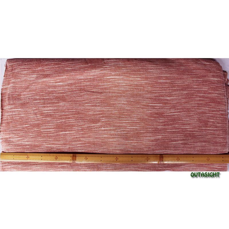 コットン(木綿)反物生地 手紡ぎ 手織 長春色かすり タイ TMR-42