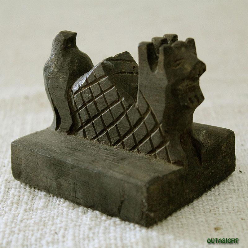 木彫 聖獣刻印:06 タイ北部 ヤオ族 TAO-39