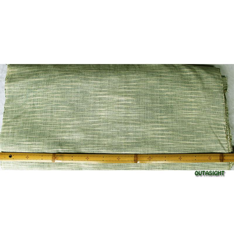 コットン(木綿)反物生地 手織 柳鼠(やなぎねず)色かすり タイ TMR-43