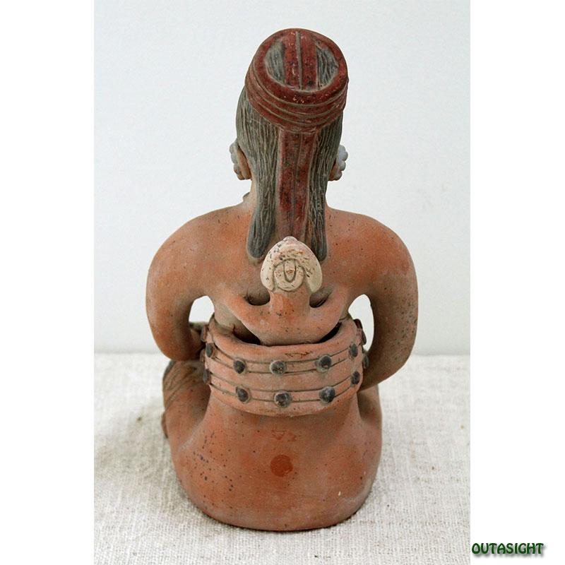 マヤの母子像 素焼き メキシコ MP-34