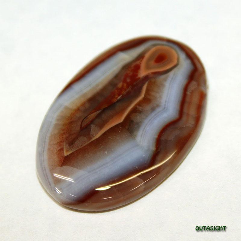 アゲート/縞めのう ルース 天然石 ボツワナ 5103-17