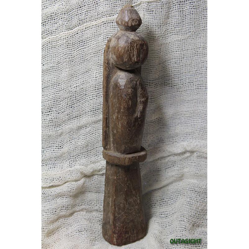 木彫り像 タル族 アンティーク ネパール NAS-26