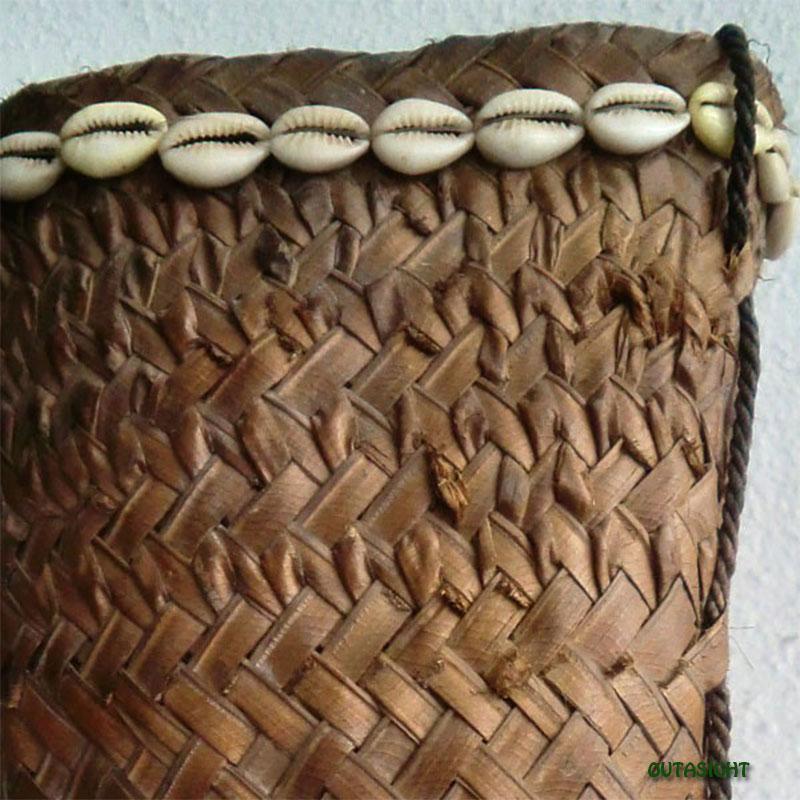 かご バスケット ヤシの葉 アンティーク ロンボク島 インドネシア INAB-10