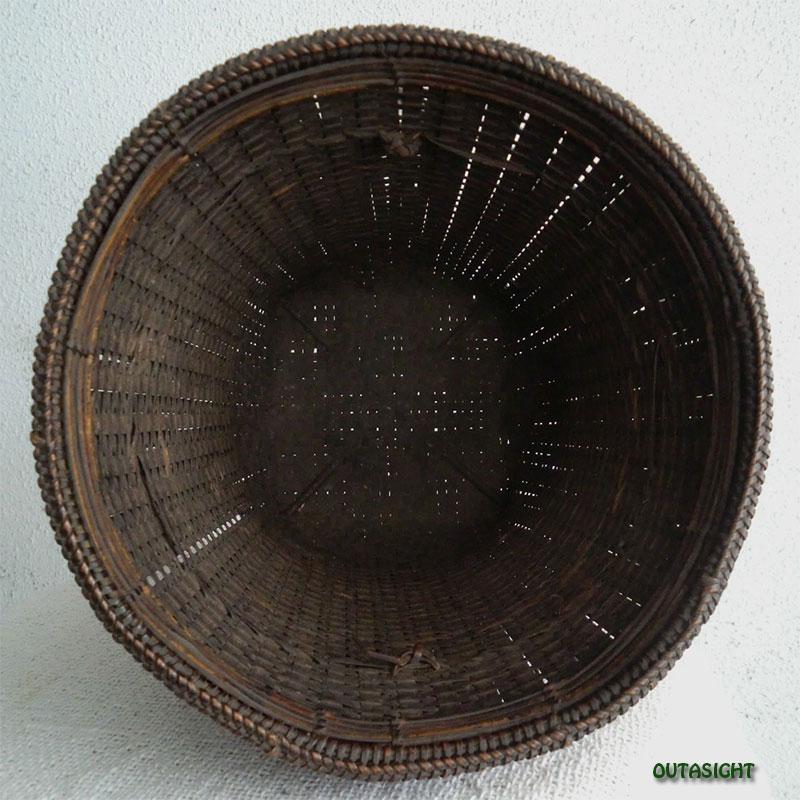 かご バスケット カレン族 アンティーク タイ TAB-12