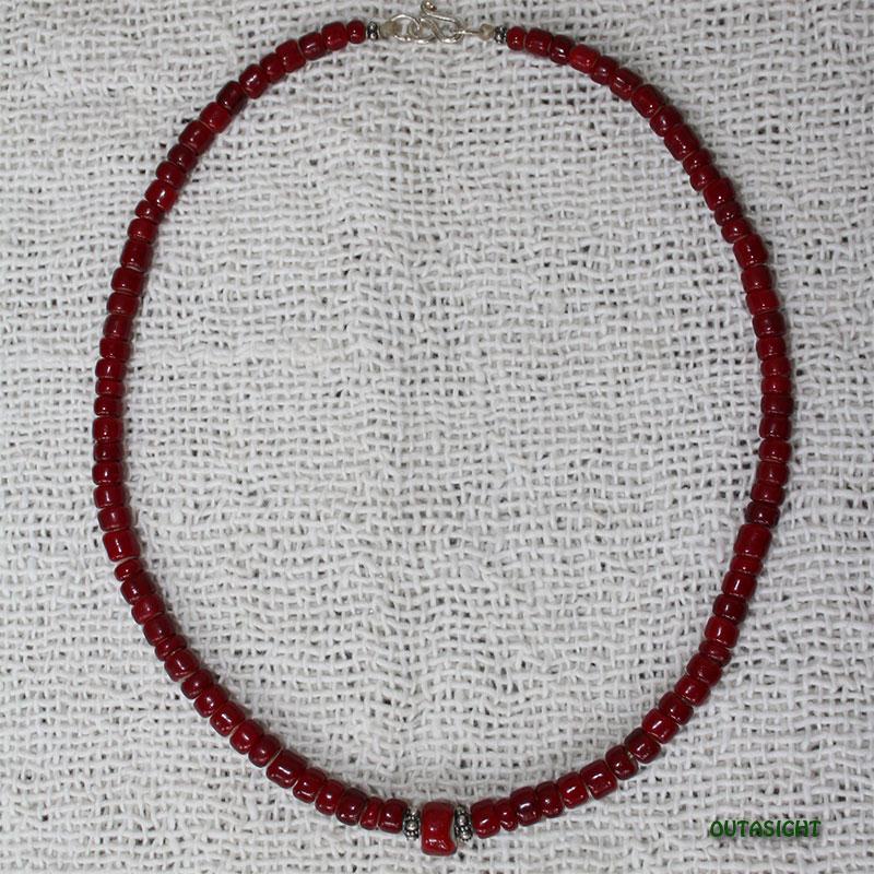ホワイトハート アンティークビーズネックレス オリジナル CBWH-14