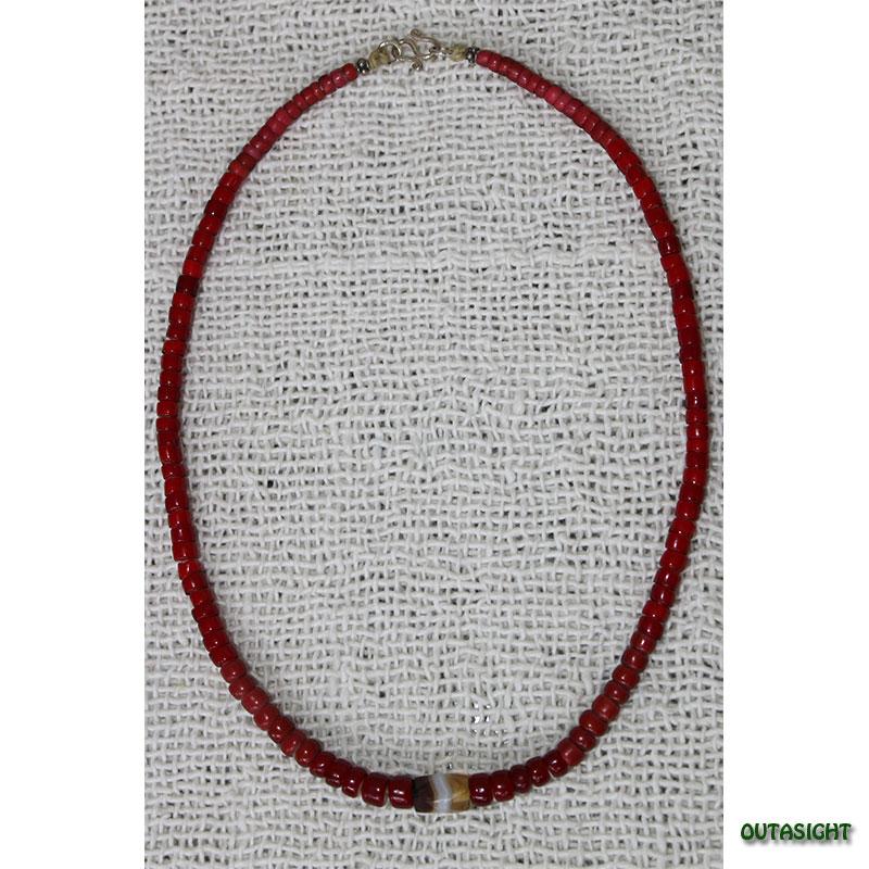 ホワイトハート アンティークビーズネックレス オリジナル CBWH-15