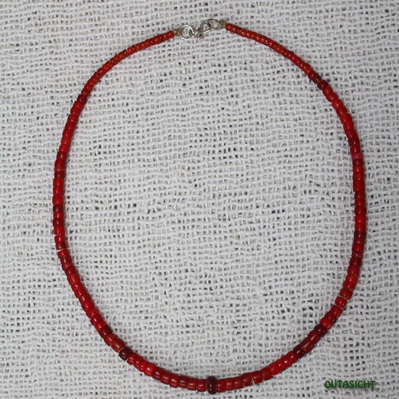 ホワイトハート アンティークビーズネックレス オリジナル CBWH-22