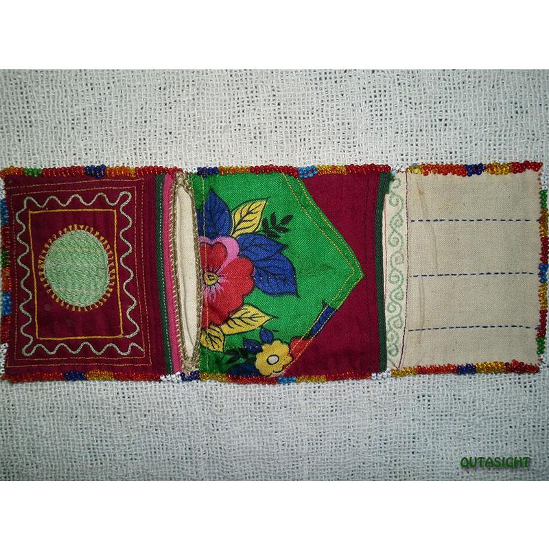 織物財布 三つ折りB オールド アフガニスタン