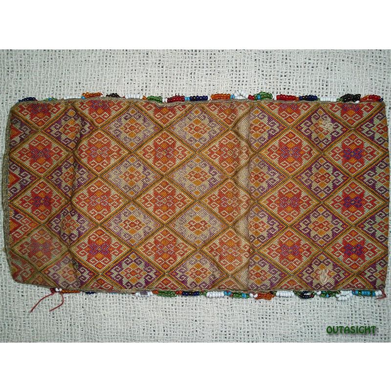 織物財布 三つ折りK オールド アフガニスタン