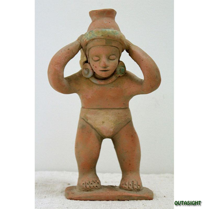 素焼き像 水瓶を担ぐ若者 メキシコ MP-36