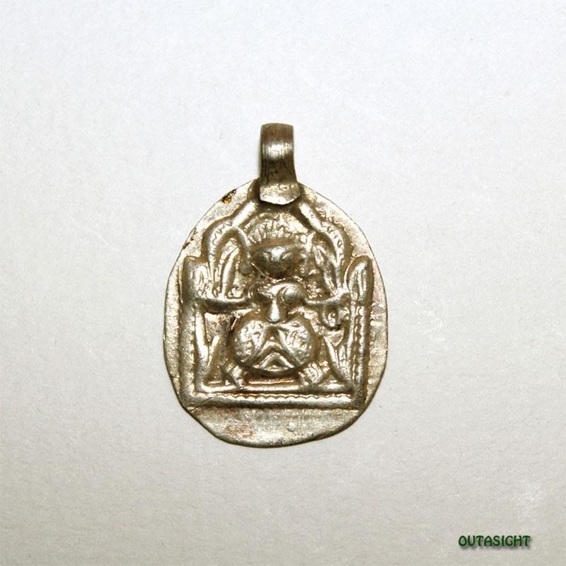 シルバー ペンダントトップ ベル神/シヴァ神 アンティーク インド AS-35