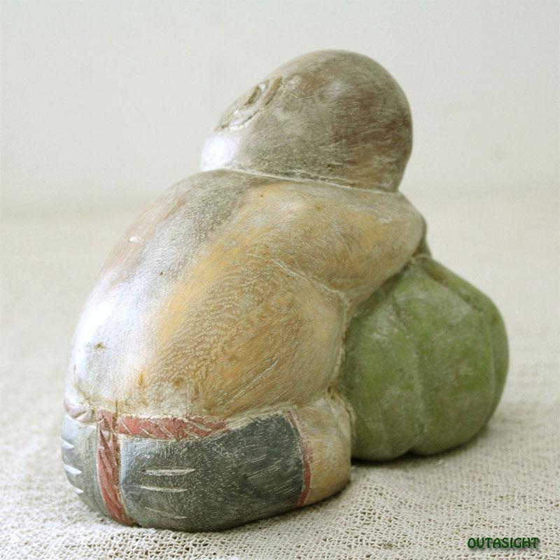 木彫り像 居眠り幼児 タイ TNS-06