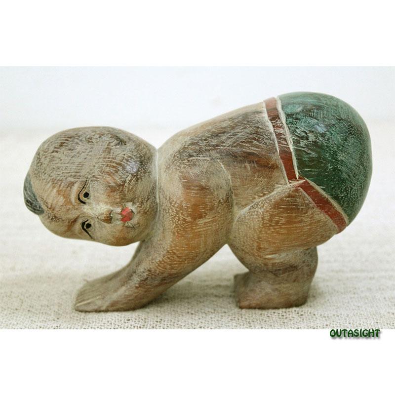 木彫り像 子ども(B) タイ TNS-07