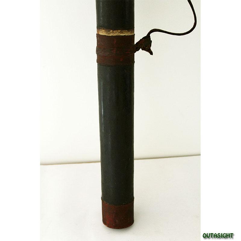 木製矢筒 革張り ブータン NAO-01