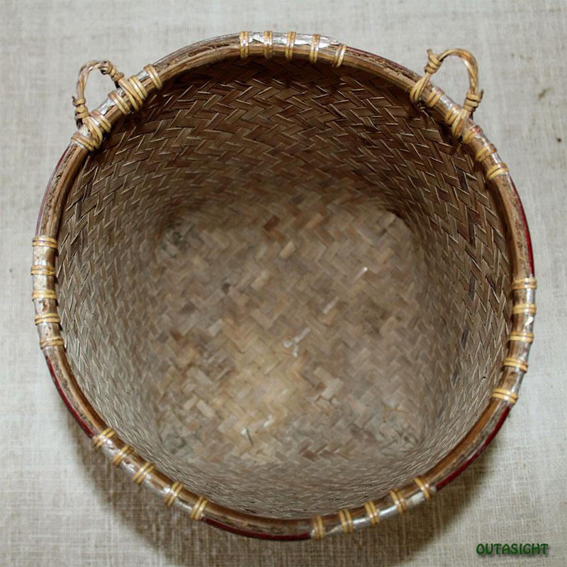 かご バスケット アンティーク ボルネオ島 インドネシア INAB-03