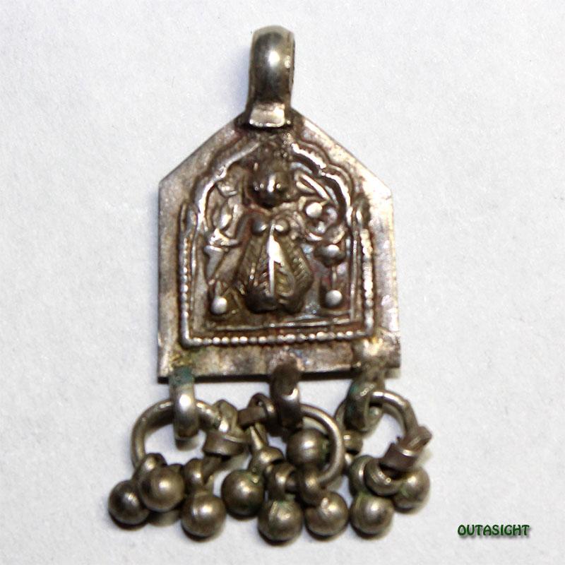 シルバー ペンダントトップ カーリー アンティーク インド 63011201-11
