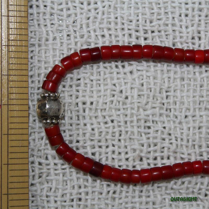 ホワイトハート アンティークビーズネックレス オリジナル CBWH-13