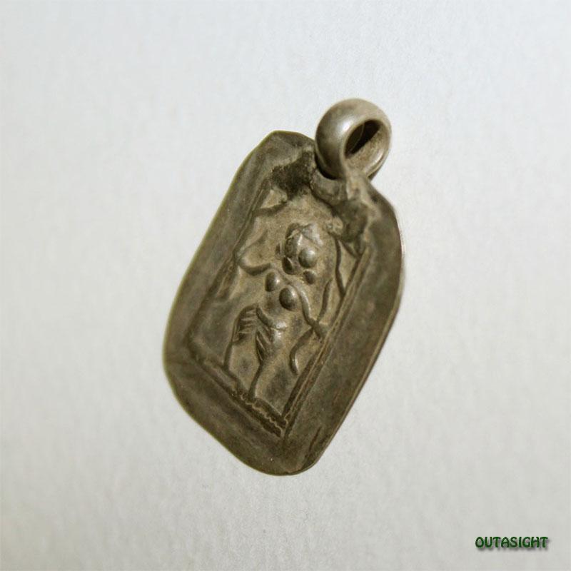 シルバー ペンダントトップ ベル神/シヴァ神 アンティーク インド AS-39