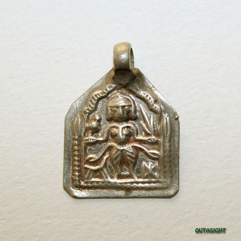 シルバー ペンダントトップ ベル神/シヴァ神 アンティーク インド AS-46