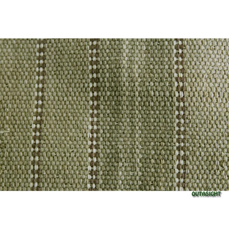 カレン族 綿手紡ぎ手織腰衣 緑系部分絣(かすり)入縞模様 アンティーク タイ TMR-65