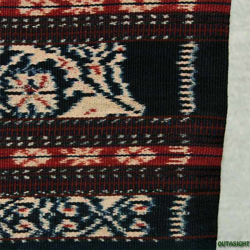 イカット 手紡ぎ 手織り 草木染 腰衣A アンティーク サブ島 インドネシア