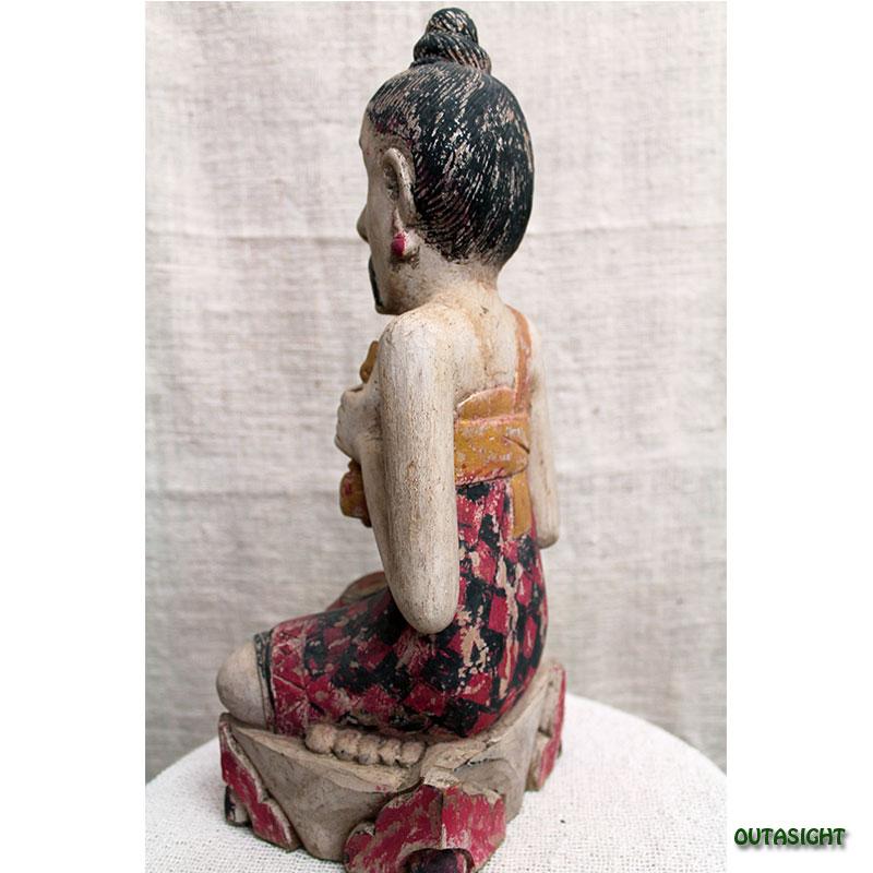 木彫り像 ブラーマン アンティーク バリ島 INAS-21