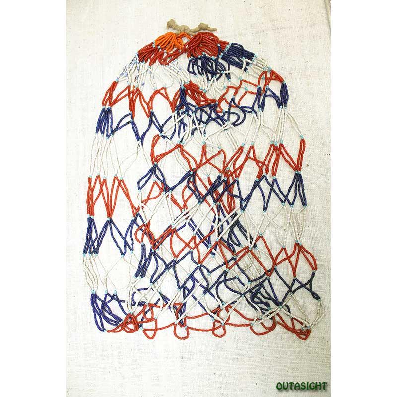 ビーズネックレス アンティーク タル族 ネパール 1001-F