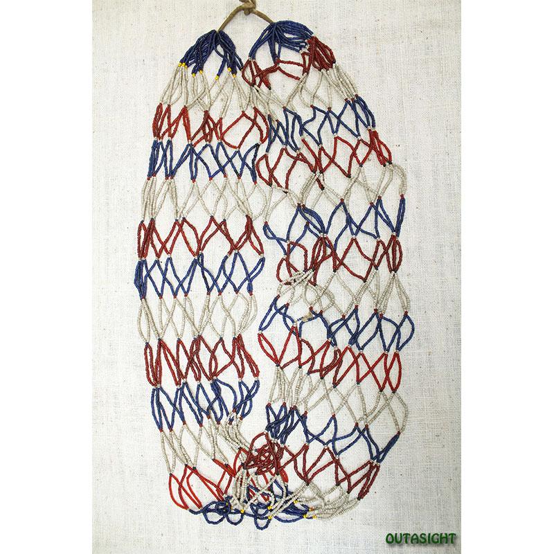 ビーズネックレス アンティーク タル族 ネパール 1001-J