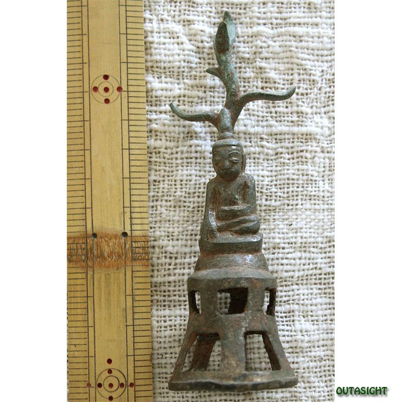 仏陀像 ブロンズ アンティーク ミャンマー TAS-09
