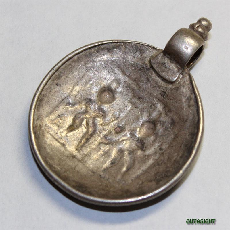 シルバー ペンダントトップ ガネーシャ&ラクシュミ アンティーク インド 63011001-G