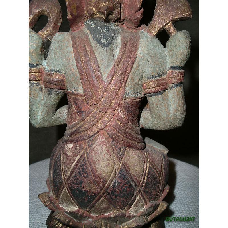 木彫り ガネーシャ アンティーク バリ島