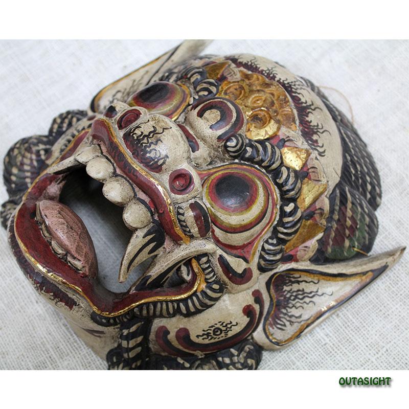 バリ島 木彫りマスク(お面) バロン BB-01