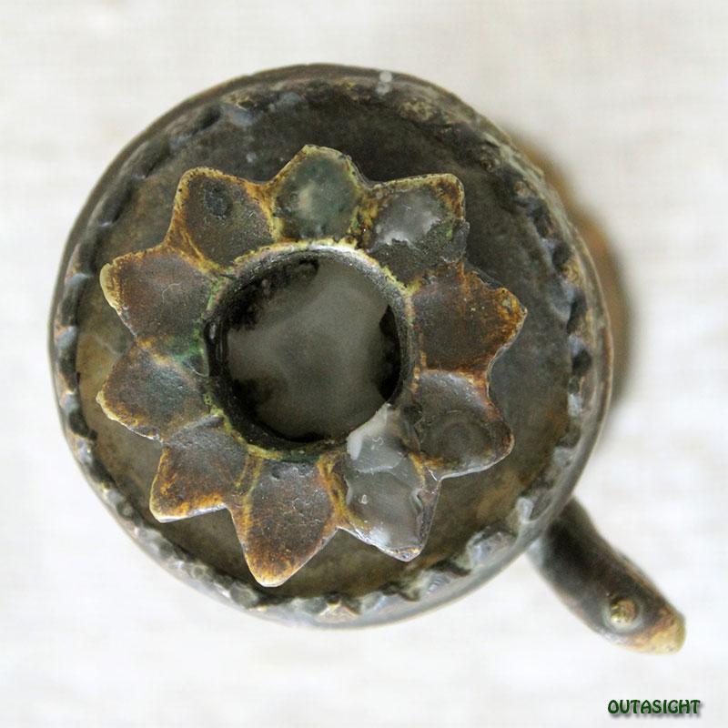 キャンドルスタンド 蛇 真鍮製 ネパール NNO-01