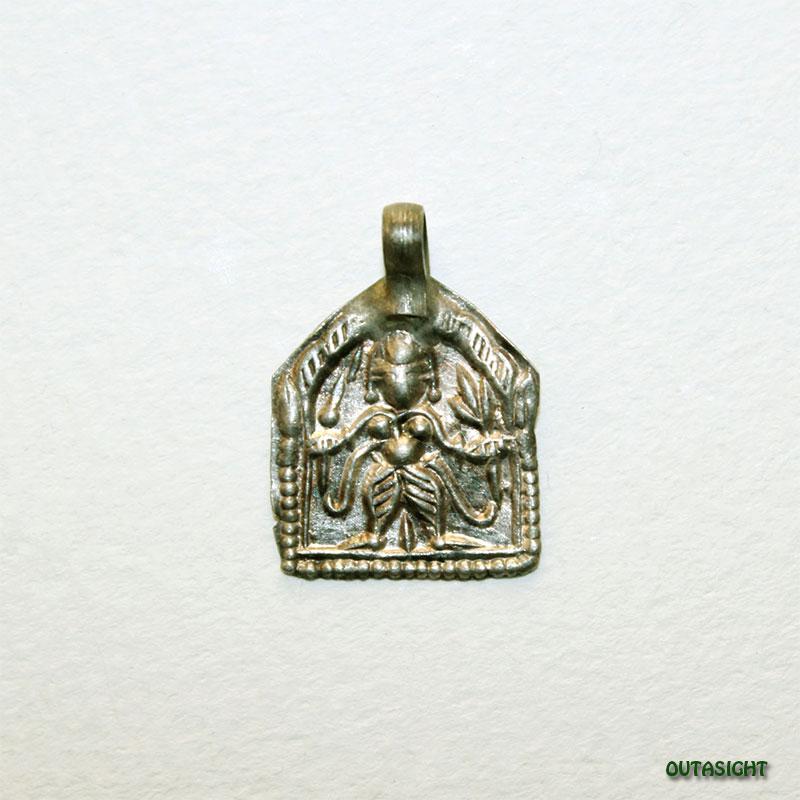 シルバー ペンダントトップ ベル神/シヴァ神 アンティーク インド AS-51