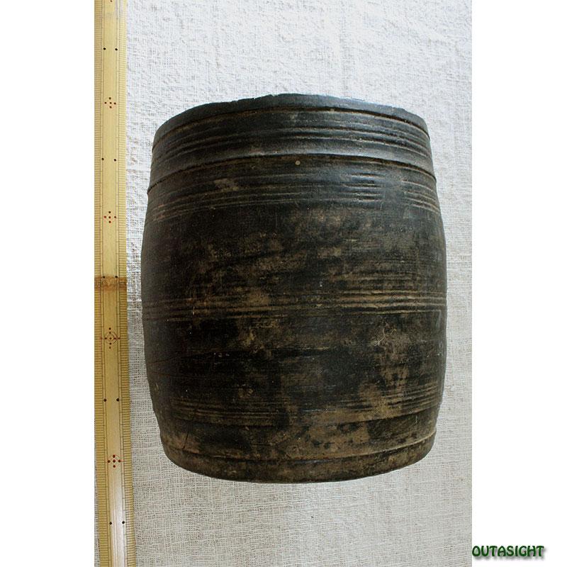 木製 計量壺 アンティーク ネパール NAO-33