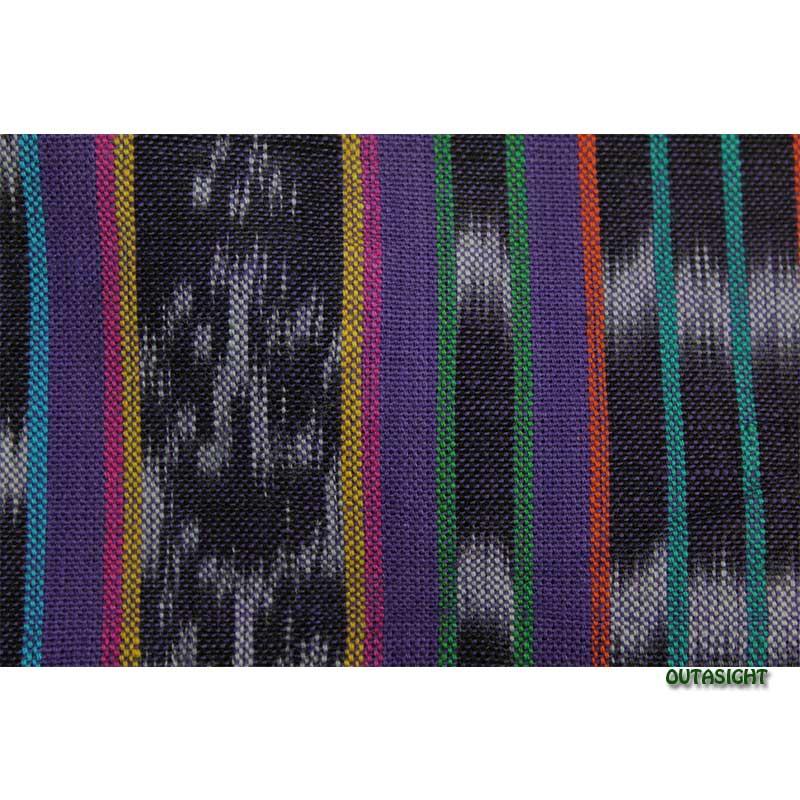 グァテマラ コットンかすり反物生地 手織 GNT-05