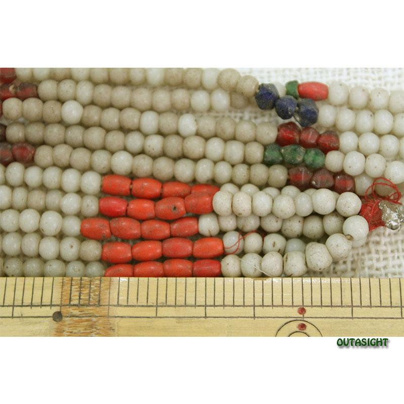 ビーズネックレス 4連 アンティーク タル族 ネパール THN-23