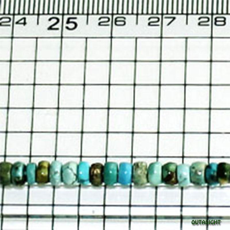 チベタンターコイズ ライン 天然石-A IST-323