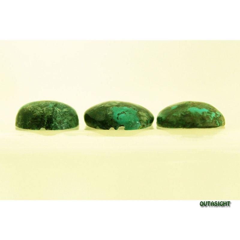 チベタンターコイズ ルース 天然石 3個一組 IST-169