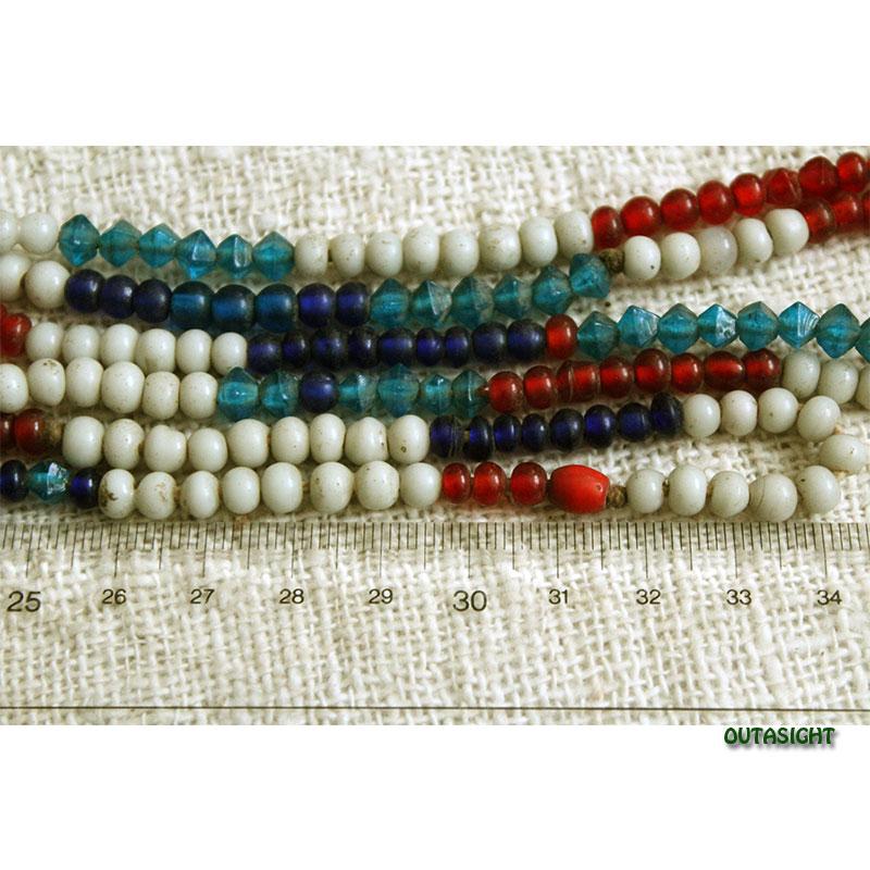 ビーズネックレス 1連 アンティーク タル族 ネパール THN-36
