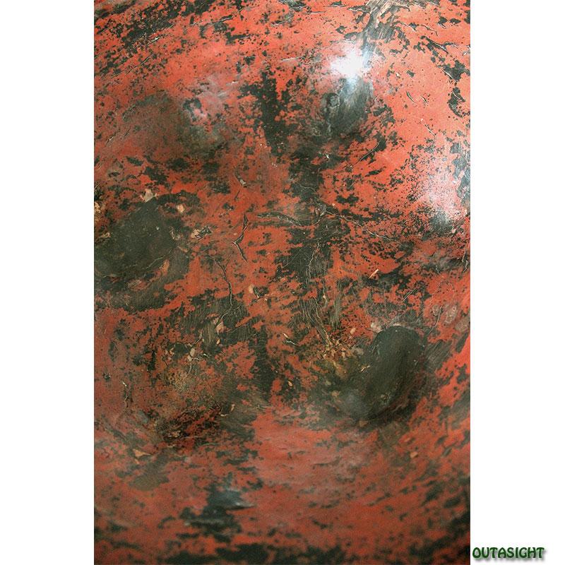 ミャンマー 漆器 大皿 脚付 アンティーク TAO-22