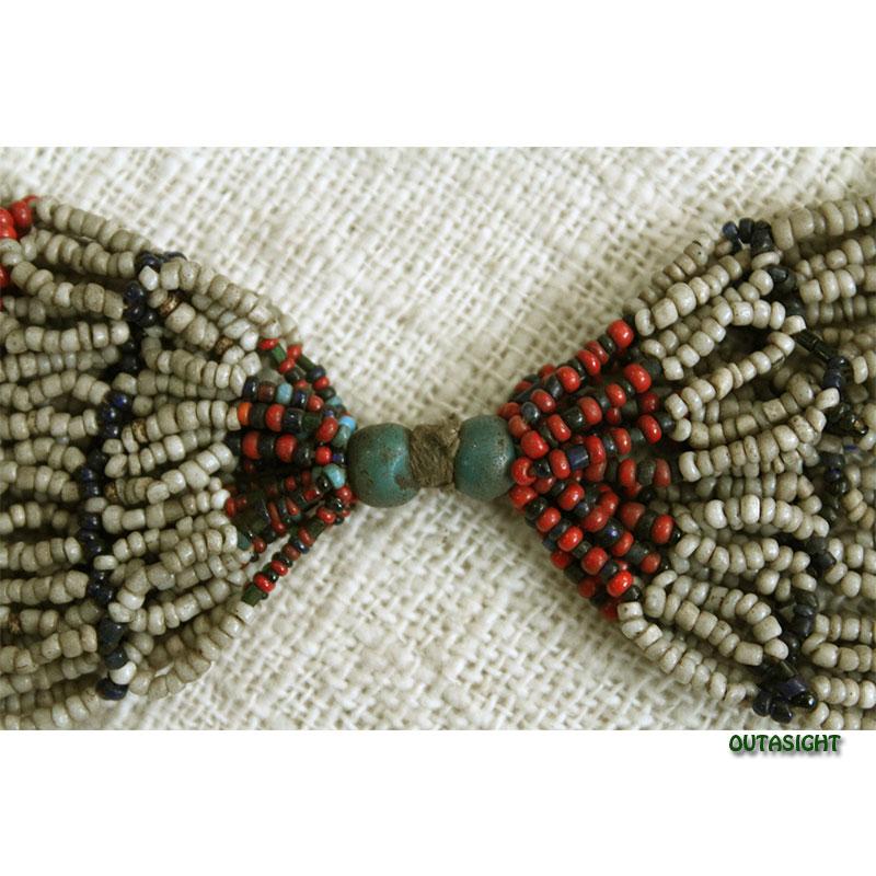 ビーズネックレス 網状 アンティーク タル族 ネパール THN-26