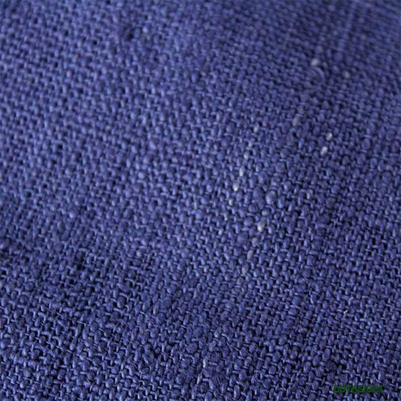 タイ コットン(木綿)反物生地 手紡ぎ 手織 紺色 TNT-07