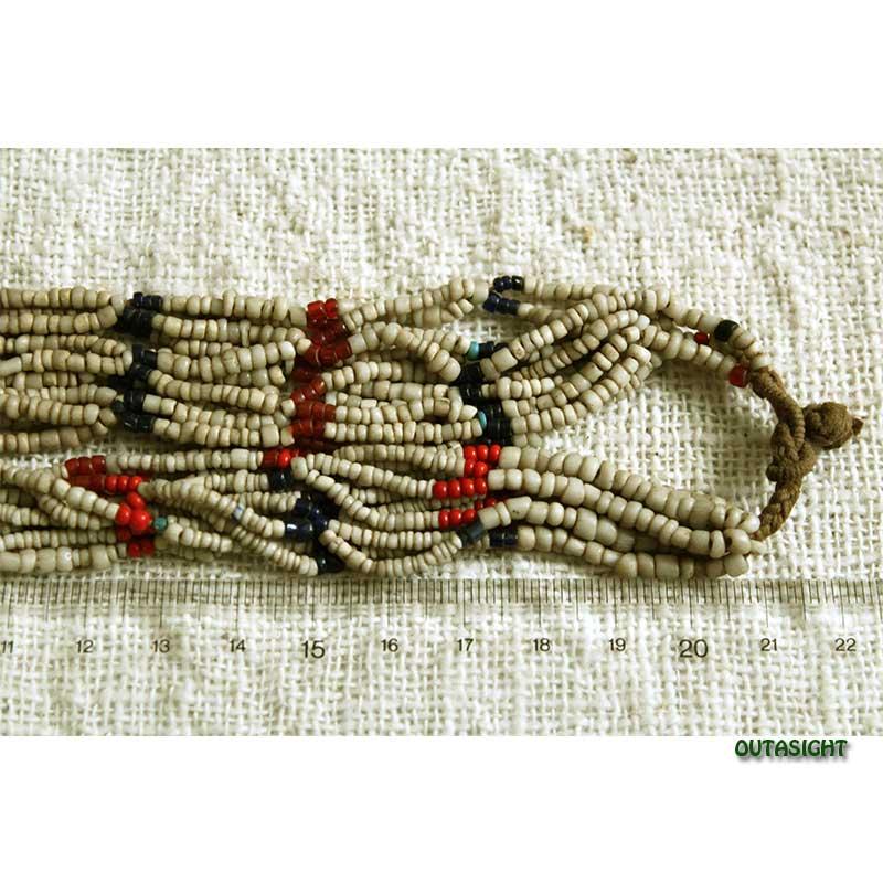 ビーズネックレス 網状 アンティーク タル族 ネパール THN-39