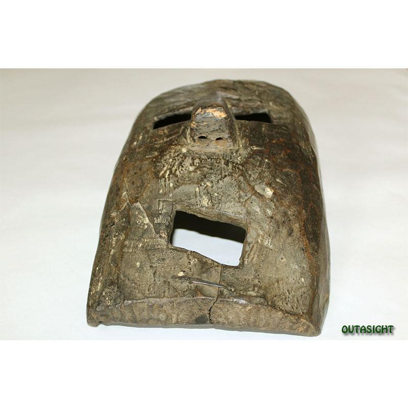 木彫マスク(お面) アンティーク ネパール NAM-01
